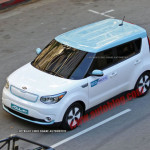 2014 kia soul ev spy photo top view