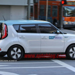 kia soul ev production version spy shot