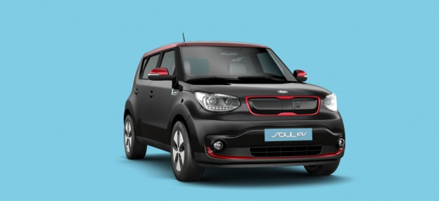 kia soul ev black and red