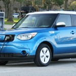 Kia Soul EV plugged in and charging
